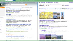 Bing vs Google, at the same time