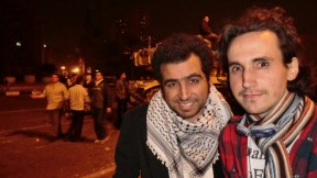 Hazem Zohny and I shortly after the tanks' arrival