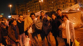 The Shalabys (with Robin) and Waleed after packing up