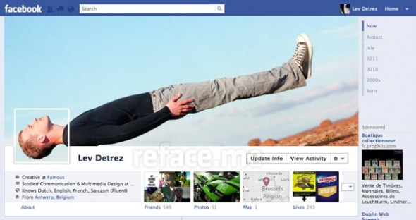 Plenty of room for creativity with the new Facebook Timeline