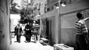 Naguib Mahfouz school poll station, Faisel district, Cairo