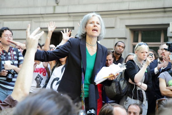 Jill Stein speaking at Occupy Wall Street