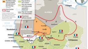 French military presence in the region, and the area of conflict encompassing uranium deposits