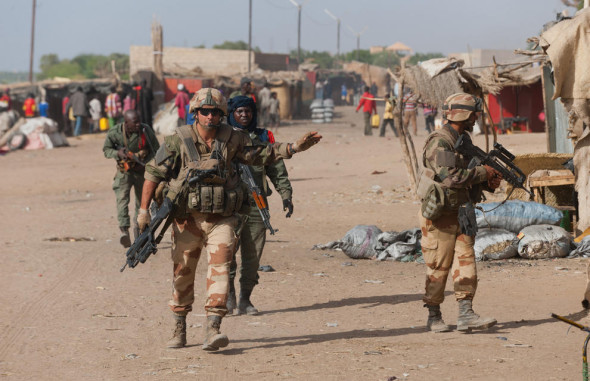The French troops on the ground in Mali