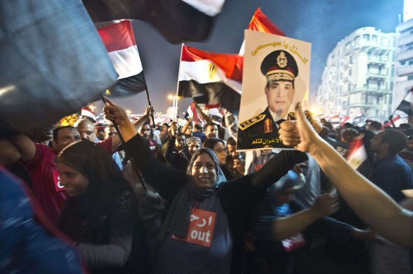 El Sisi's photos have flooded all marches and protests